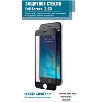 Защитное стекло для iPhone Red Line для 6/6s Plus матовое, черный